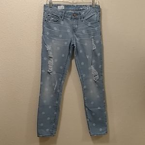 Gap 1969  polka dot distressed jeans